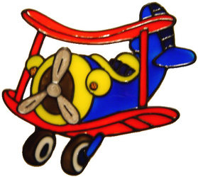 349 - Airplane handmade peelable window cling decoration