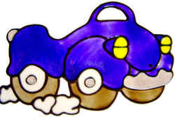 443 - Fun Car handmade peelable window cling decoration