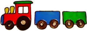 542 - Train with Carriages - Handmade peelable static window cling decorati