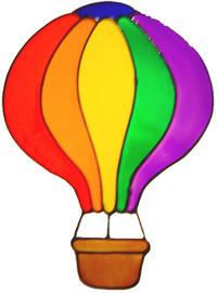 72 - Hot Air Balloon - Handmade peelable static window cling decoration
