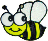 649 - Tiny Bumblebee - Handmade peelable static window cling decoration