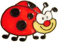 747 - Cute Ladybird - Handmade peelable window cling decoration