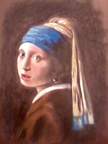 RA Chambers, Steve Girl with pearl earring