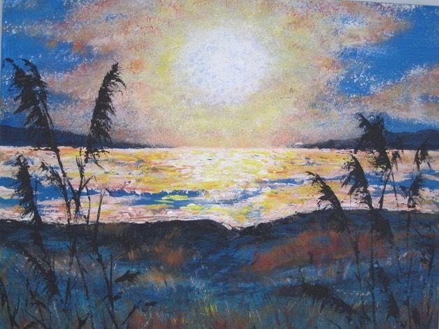 Wicken Fen   ________________________________ acrylic on canvas  (30cm x 40cm)           £40
