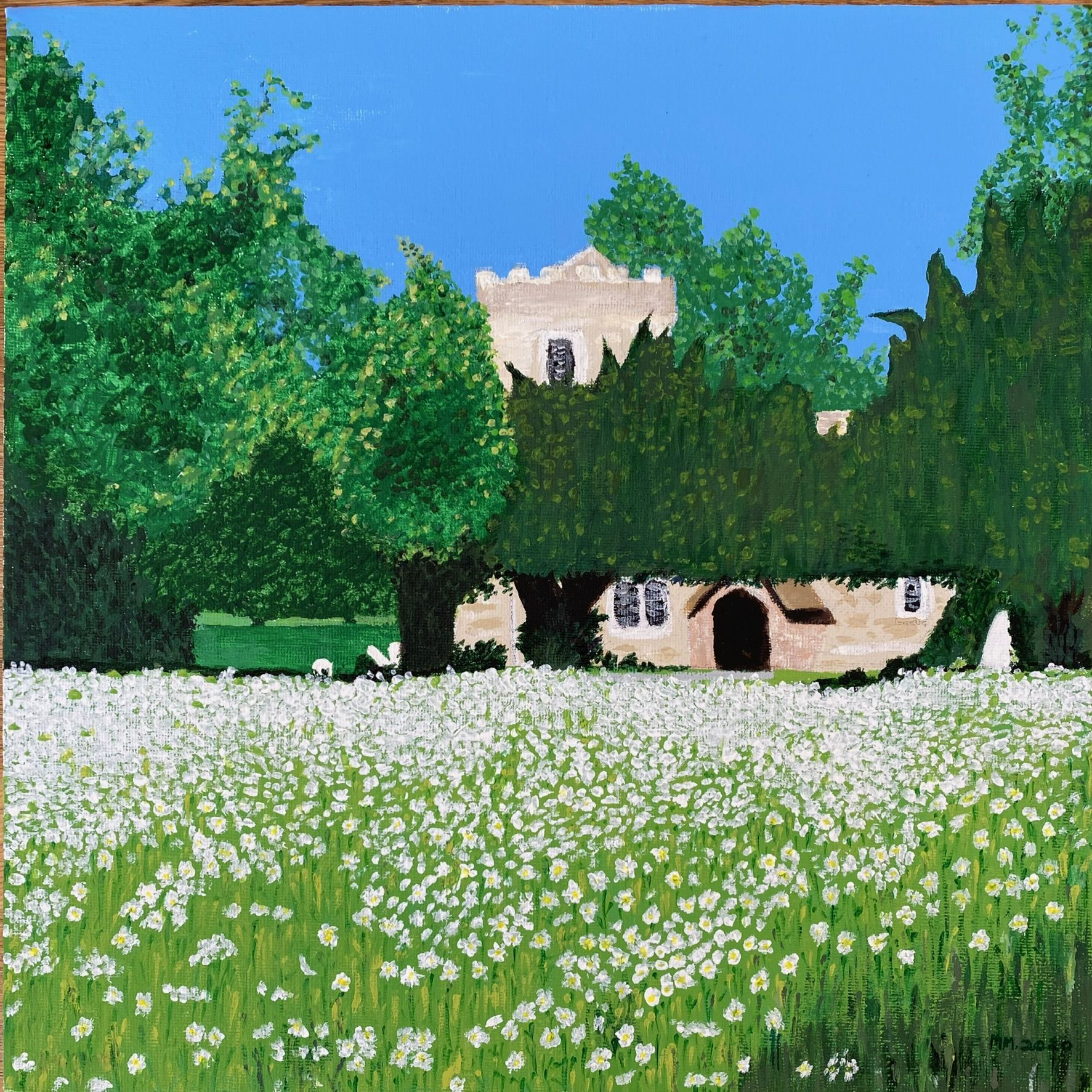 Winter Abstract, acrylic on canvas  (30cm x 30cm)           £40