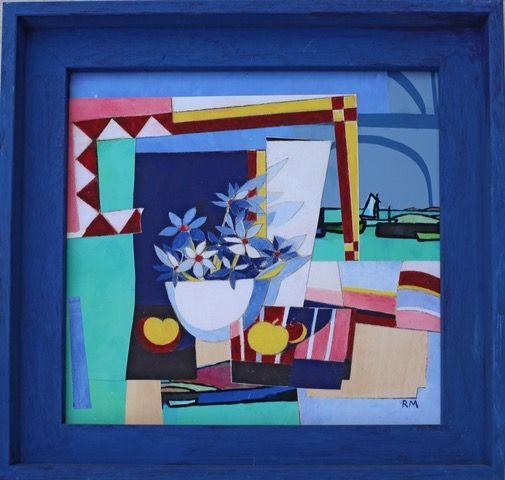 Rosemary Millar: Still Life Collage   ________________________________ collage from original artworks (34cm x 34cm)                 £80