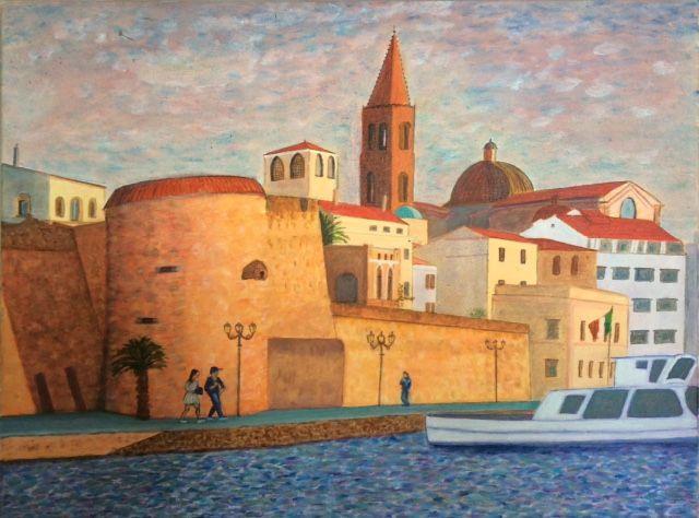 Sardinia   ________________________________ oils on stretched canvas  (45cm x 61cm)           £100