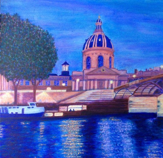 Paris   ________________________________ oils on stretched canvas  (40cm x 40cm)           £90