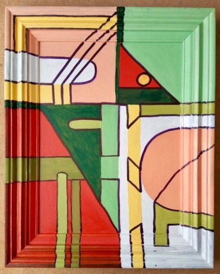 Frame Included Abstract   ________________________________ acrylic  (50cm x 40cm)           NFS