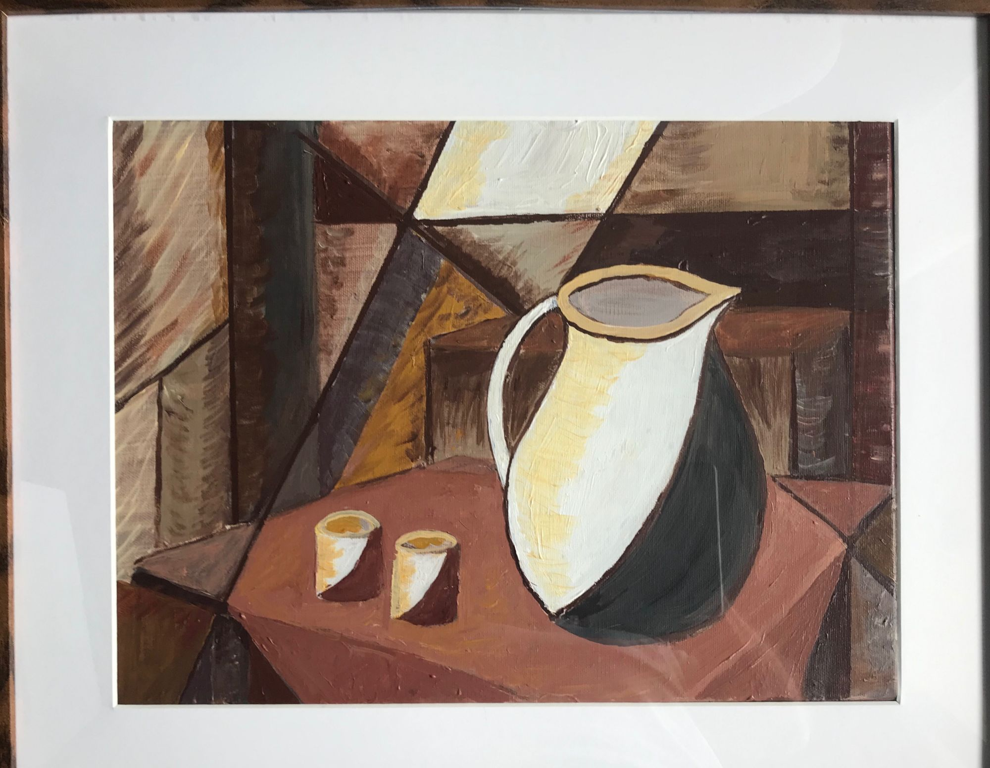 Still Life   ________________________________ acrylic on paper, framed  (52cm x 43cm x 3cm)          £50
