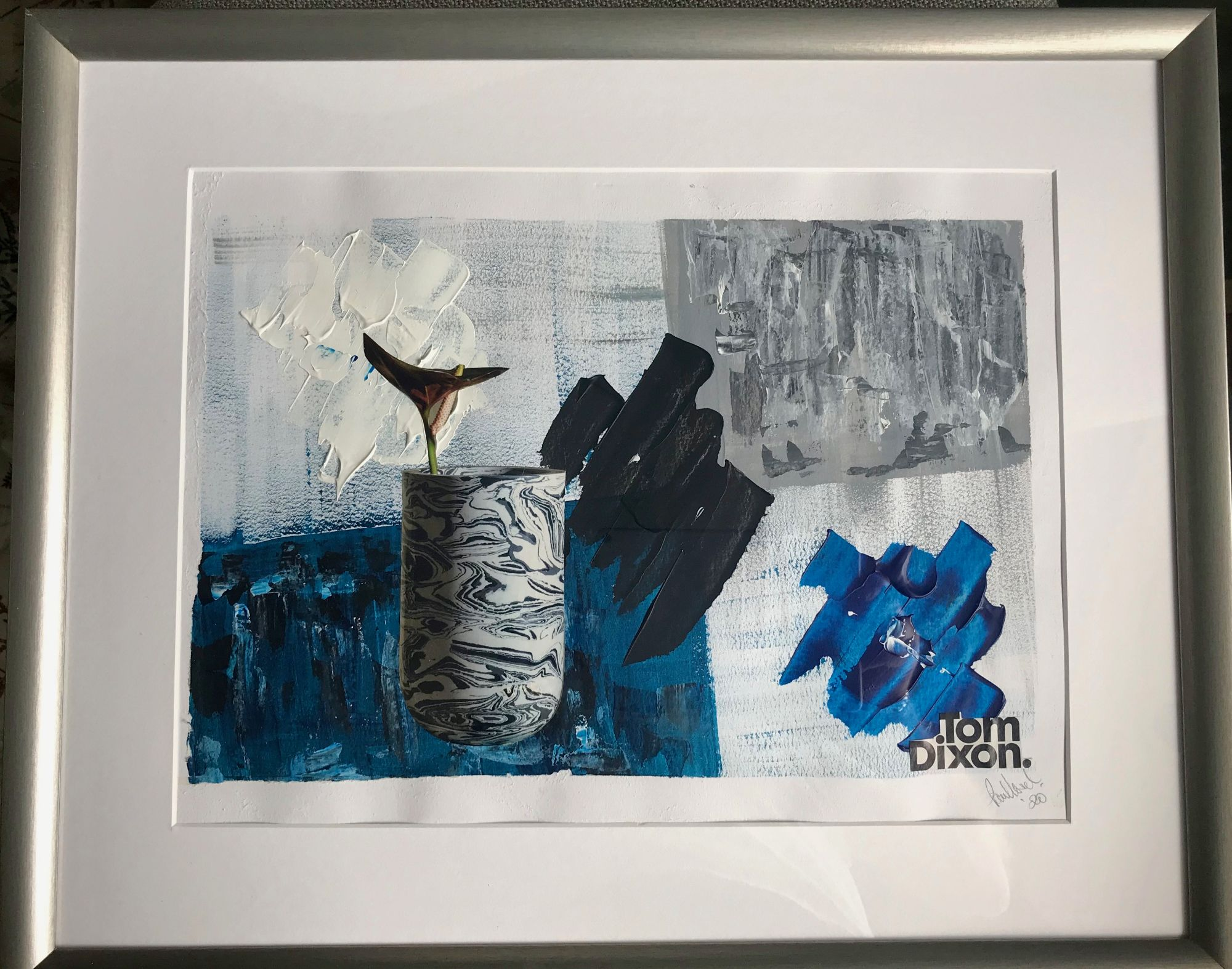 Tribute to Tom Dixon   ________________________________ mixed media  (53cm x 43cm s 2cm)           £50