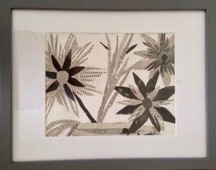 Flora  ________________________________ newsprint collage, framed (31cm x 39cm)           £20