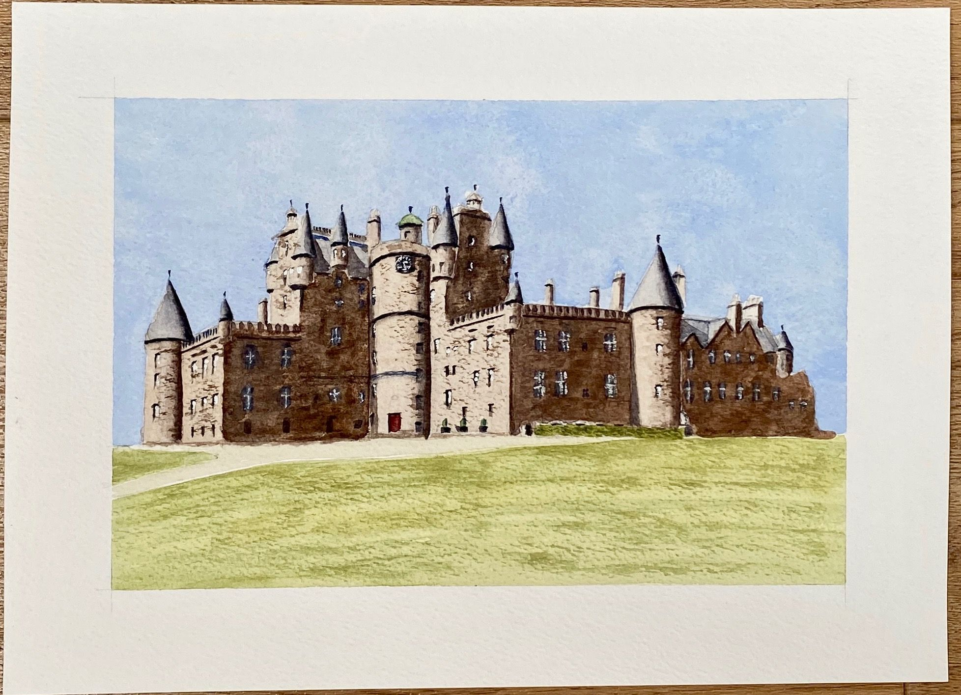 Glamis Castle   ________________________________ watercolour on paper, unframed (15cm x 23cm)          NFS
