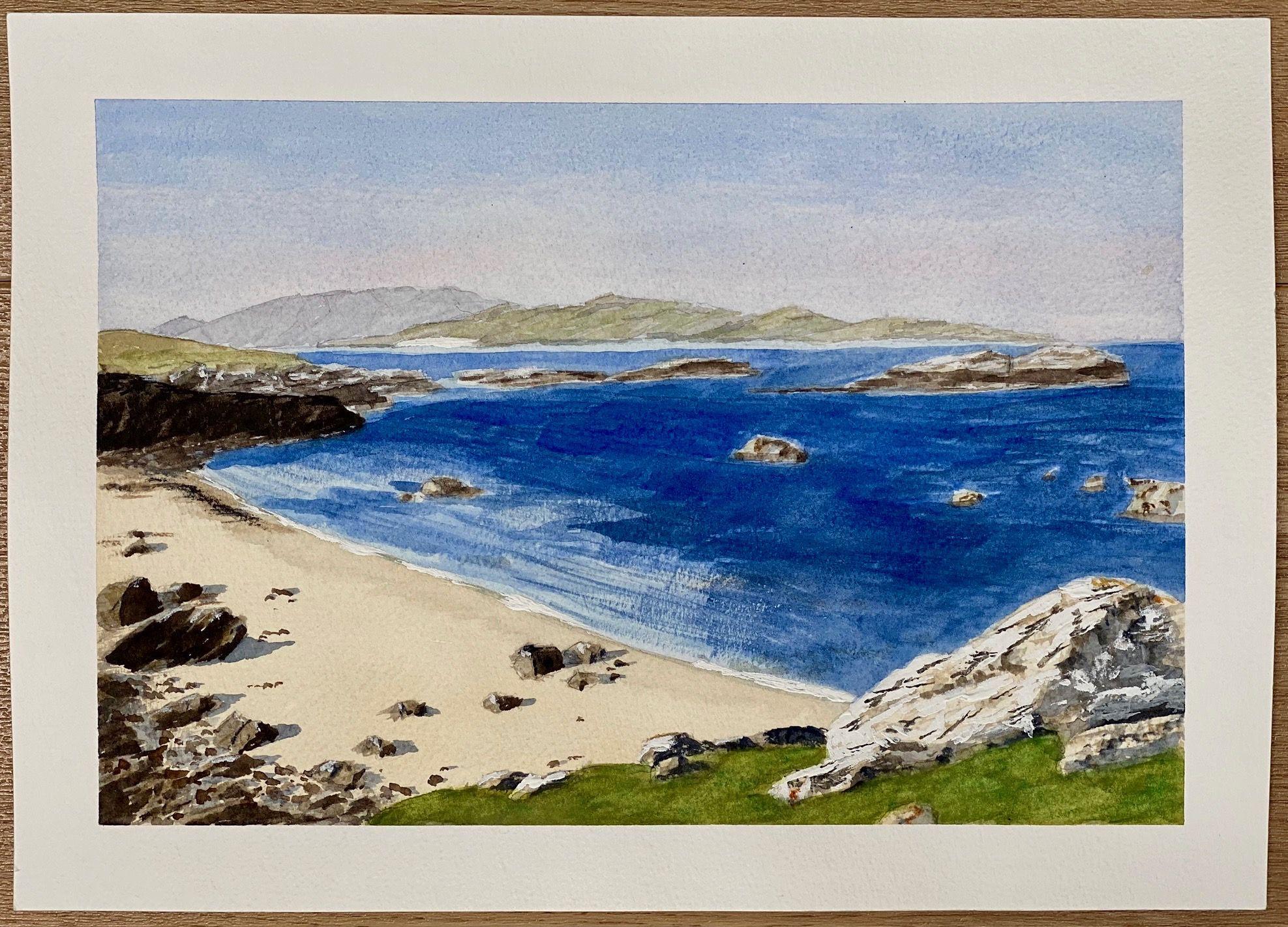Hebridean Beach   ________________________________ watercolour on paper, unframed  (21cm x 30cm)           NFS