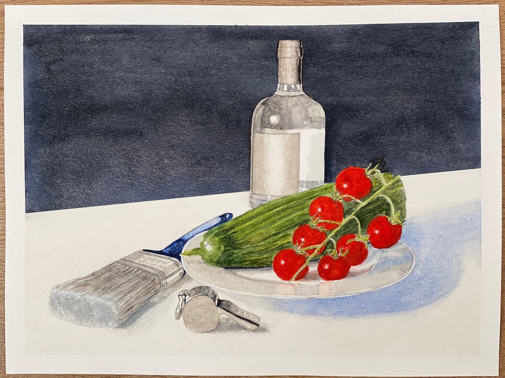 Lockdown   ________________________________ watercolour on paper, unframed (21cm x 28cm)          NFS
