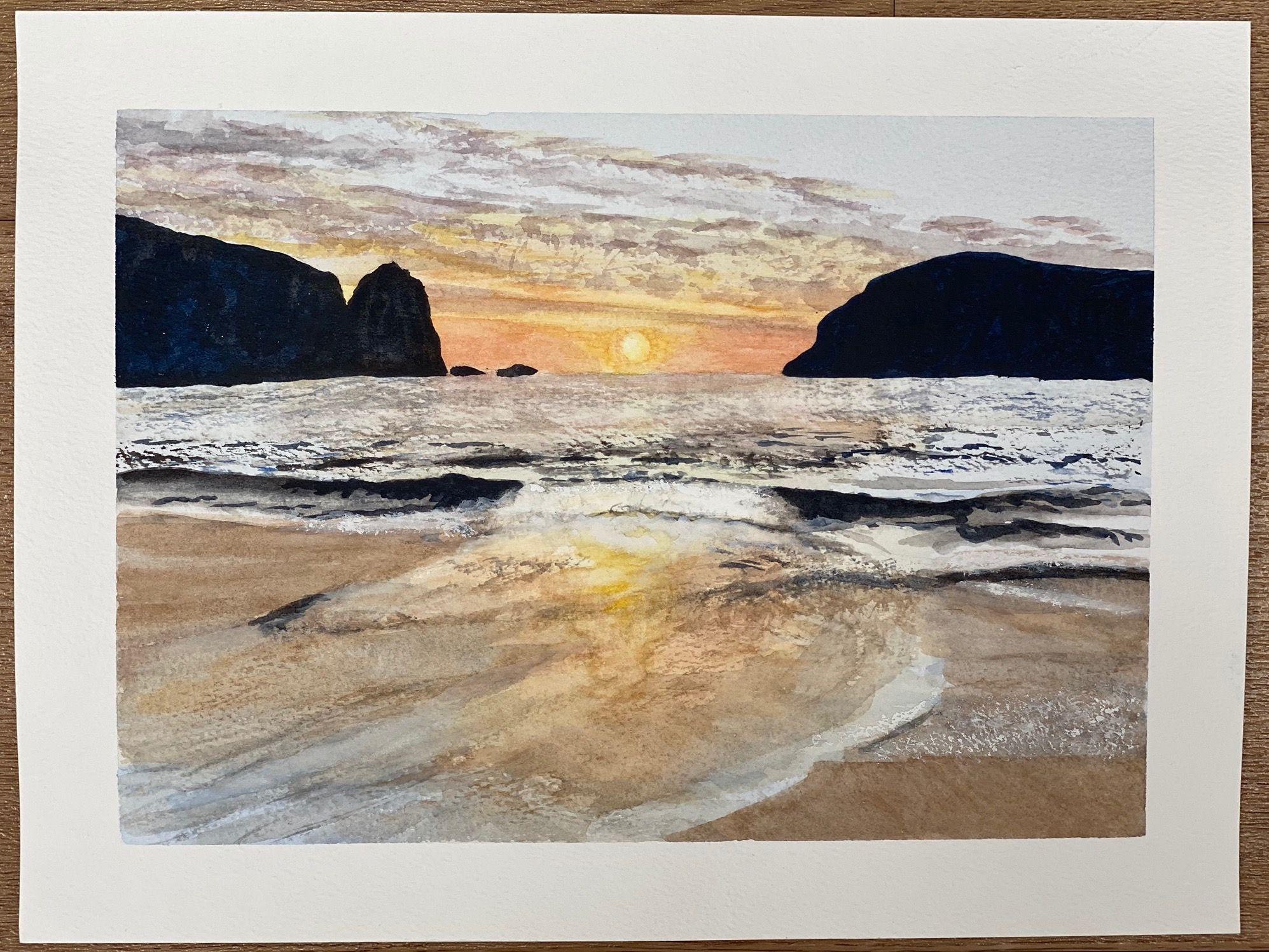 Scottish Sunset   ________________________________ watercolour on paper, unframed  (18cm x 26cm)           NFS