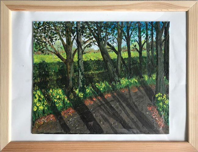 Anglesey Abbey   ________________________________ acrylic on board, framed  (44cm x 34cm x 1cm)          £45