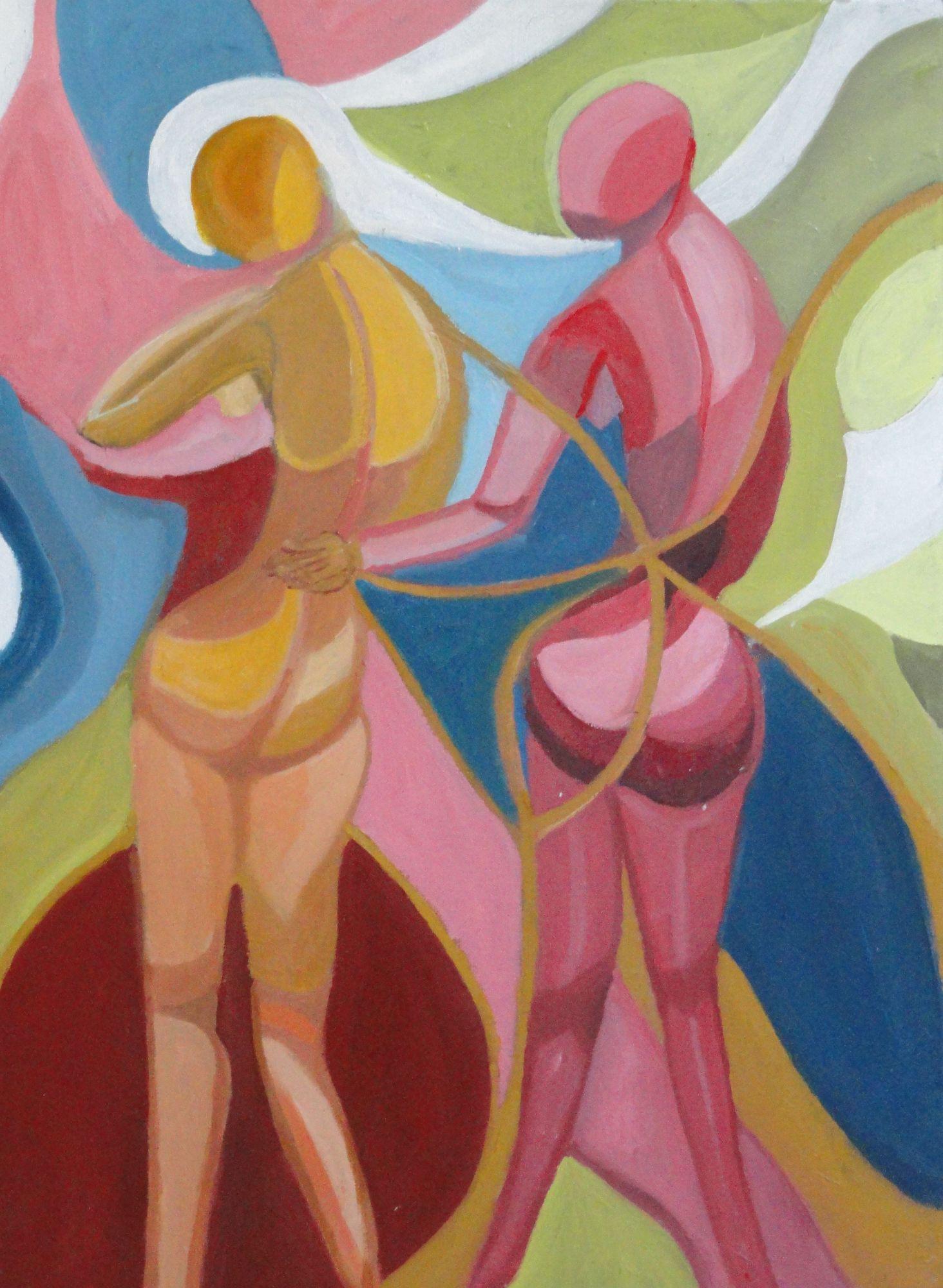 Affection  ________________________________  varnished gouache  (56cm x 41cm)           £90