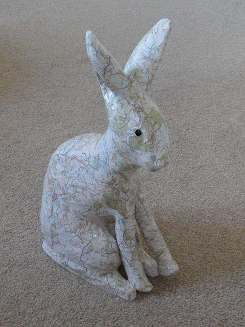 Hare  ________________________________  papier-mache  (45cm x 26cm x 11cm)           £50