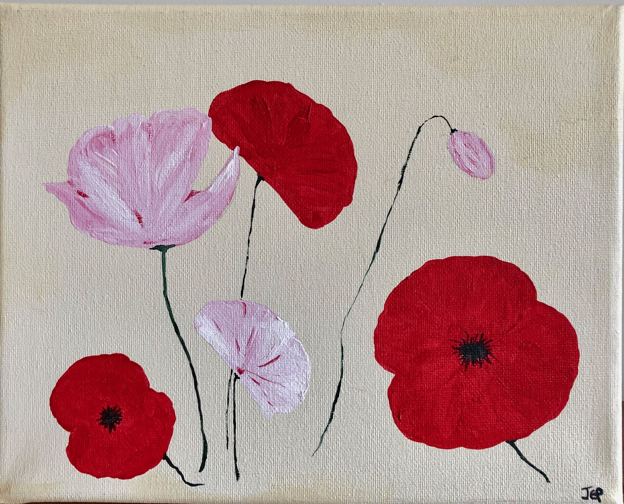 Lest We Forget   ________________________________ acrylic on stretched canvas  (20.5cm x 25.5cm)           £20