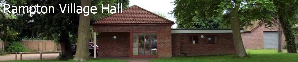 Rampton Village Hall, site logo.