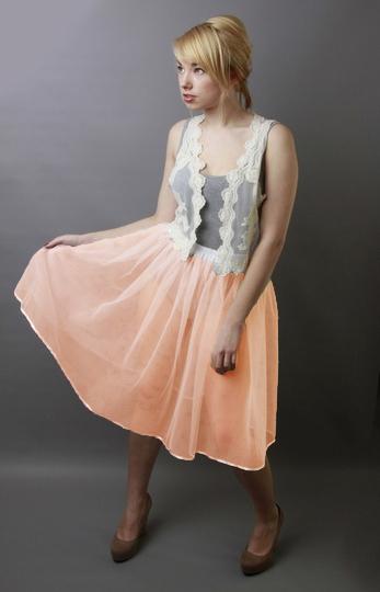 Plain Peach Petticoat