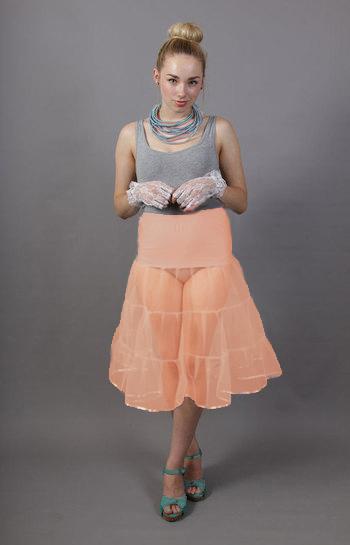 Tiered Peach Petticoat
