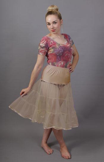 Tiered Nude Petticoat