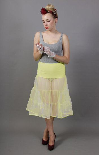 Tiered Lemon Petticoat