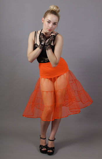 Tiered Orange Petticoat