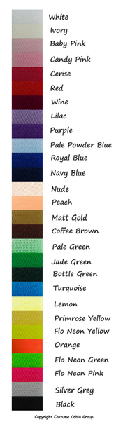 Dress Net Colour Chart