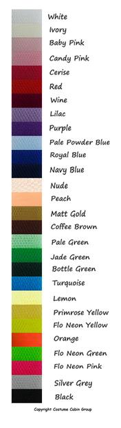 Dress Net Colour Chart