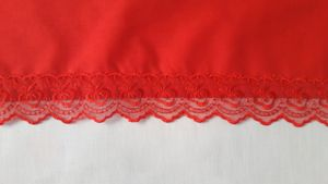 Red Lace Edge