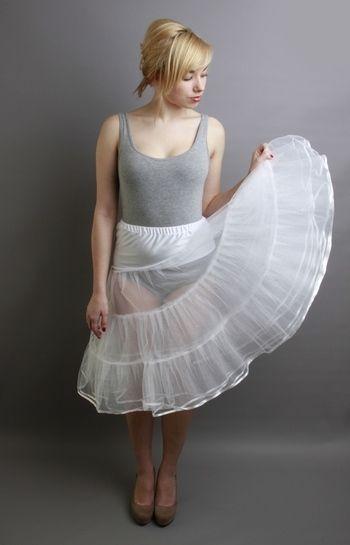 White Tiered Net Petticoat