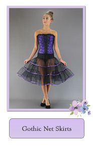 Goth Steampunk Emo Net Petticoats