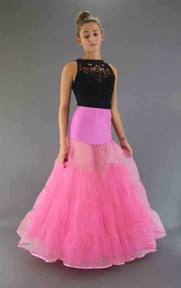 Long-Candy-Pink-Petticoat-Satin Edge