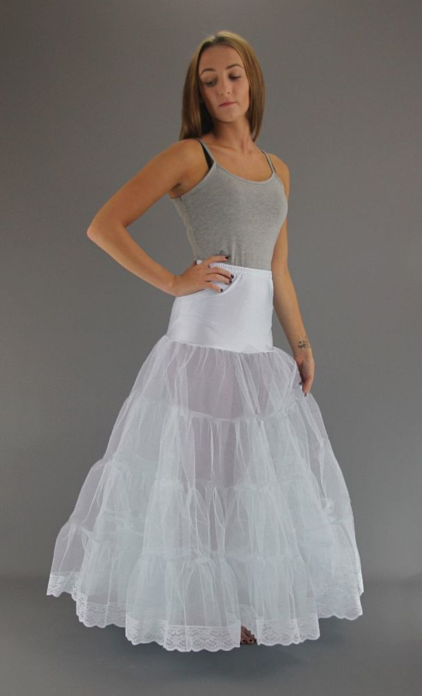 Floor-Length-Petticoat-Lace Trim