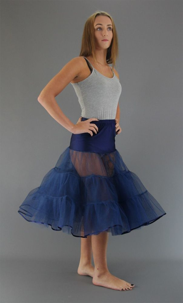 Navy-4-Layers-Tiered-Petticoat