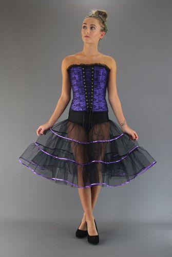 Gothic-Satin-Trimmed-Skirt