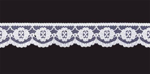 <!-- 011 -->Flat White Lace Trim - 1 Inch