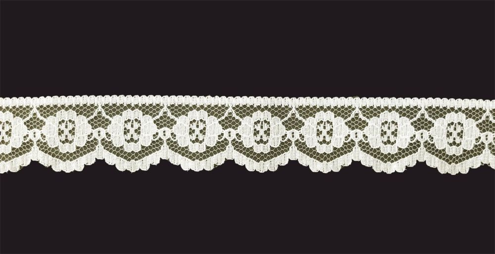 <!-- 012 -->Flat Ivory Lace Trim - 1 Inch