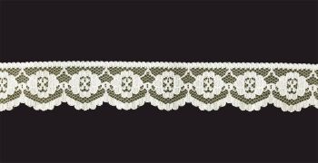 Flat Ivory Lace Trim - 1 Inch