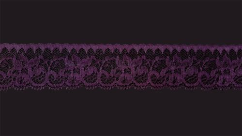 <!-- 017 --> Flat Imperial Plum (Dark Purple) Lace Trim - 1.75 Inch