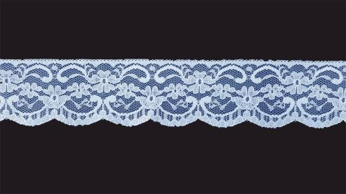 <!-- 018 -->Flat Baby Blue Lace Trim - 2.25 Inch