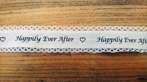 <!-- 002 -->Happily Ever After Luxury Lace Edged Ribbon