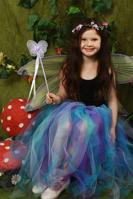 <!-- 002 -->Childrens Longer Length Multi-Coloured Raggy Fairy Skirt