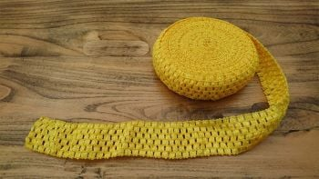 Yellow Crochet Tutu Top Elastic