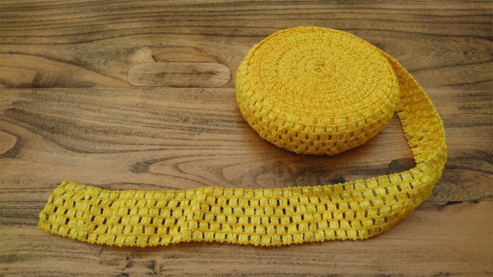 <!-- 024 -->Yellow Crochet Tutu Top Elastic