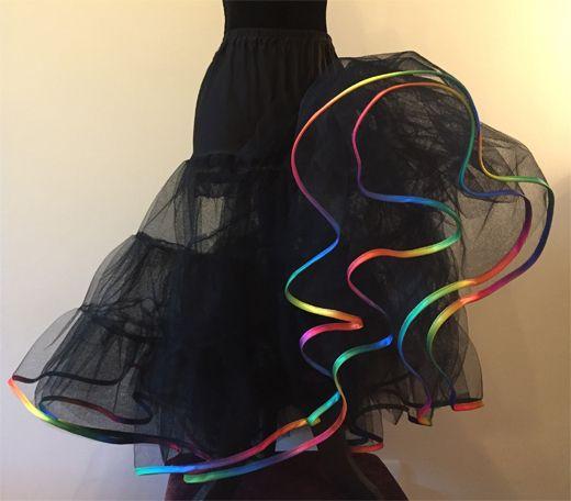 Rainbow-Edge-Net-Underskirt