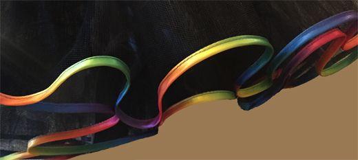 Rainbow Satin Bound Petticoat